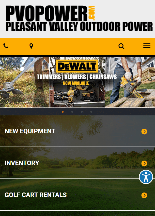 preview of business website
